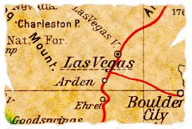 Map Of Las Vegas Nv Las Vegas Nevada On An Old Torn Map From 1949 Isolated Part