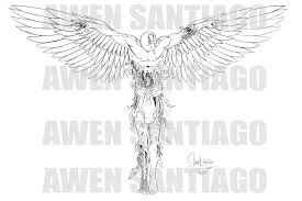 guardian angel couple tattoo drawing photo 3 photo pictures
