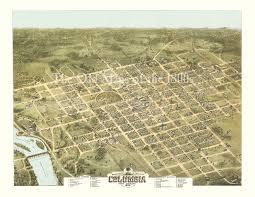 map of columbia south carolina columbia south carolina in 1872 bird s eye view map aerial