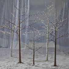 lighted birch trees buy lewis pre lit birch cluster 4ft online at johnlewis