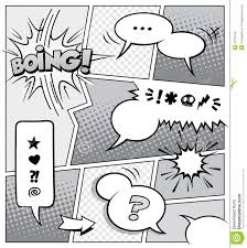 comic book page template stock vector image of drawing 37709123