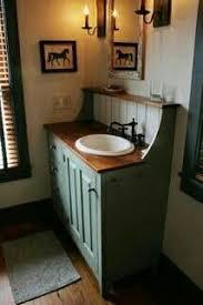 primitive country bathroom ideas rustic bathroom vanity i like thetop shelf idea maybe use copper