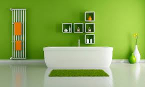 design minimalist bathroom ideas with green color 8 house design