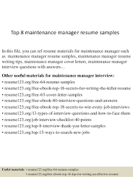 Best Font For Executive Resume by Download Maintenance Manager Resume Haadyaooverbayresort Com