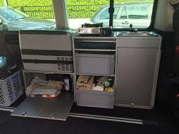 volkswagen california camper vw t5 california beach ausbau küche schrank spüle eigenbau nach