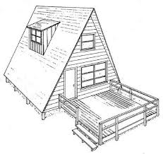 a frame house a frame house plan with deck