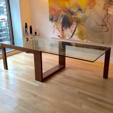 large glass top dining table dining room teak oval glass top extendable table custom round