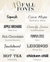 10 free fall fonts u2022 she uncovered
