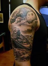 moon with clouds designs 80 cloud tattoos for