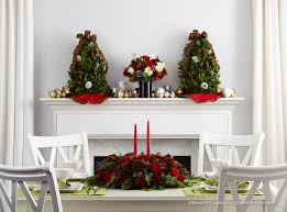 for christmas interior centerpiece and floral bouquet for christmas table