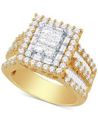 rings fashion gold images Macy 39 s diamond ring 3 ct t w in 14k gold or white gold rings tif