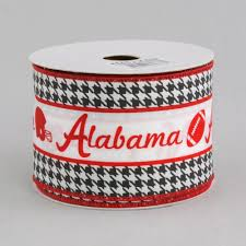 alabama ribbon 2 5 alabama football helmet ribbon crimson houndstooth 10