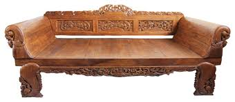 balinese sleigh arm daybed asian daybeds by design mix furniture