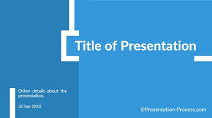Flat Design Templates Powerpoint Title Slide Blue Ppt