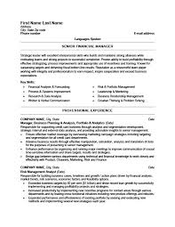 Senior Resume Template Senior Financial Manager Resume Template Premium Resume Sles