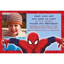 free spider man party invitations home kids birthday party