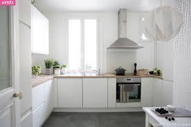 cuisine blanche sol noir beautiful cuisine blanche et bois photos design trends 2017