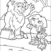 dora u0027s friends coloring pages hellokids