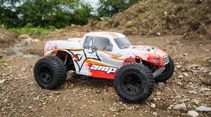 monster truck shows 1 10 amp mt 2wd monster truck rtr white orange horizonhobby