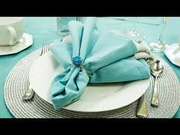 how to set a table with napkin rings how to make napkin rings youtube