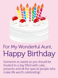 yummy birthday cake card for aunt birthday u0026 greeting cards by