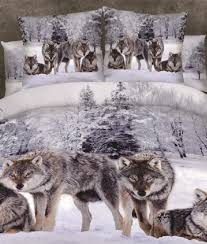 Wolf Bed Sets Snow Wolf Bedding Set Gearlaxy