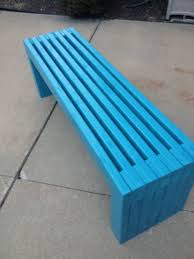 Outdoor Wooden Bench Diy by Ana White Modern Slat Top Outdoor Wood Bench Diy Projects