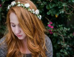 bohemian hair accessories wedding floral crown bohemian woodland flower hair