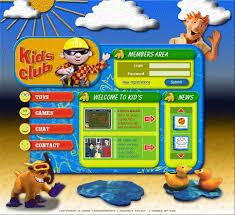 website template 9322 kids children club custom website template