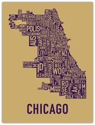 chicago map meme typography map of chicago neighborhoods design concepts ideas