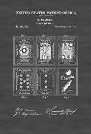 playing cards patent patent print game room decor game night