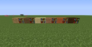 different planks on bookshelves suggestions minecraft java