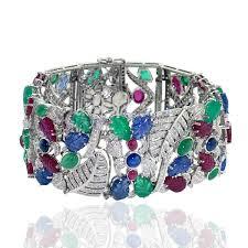 bracelet diamond ebay images White gold ruby emerald sapphire diamond bracelet designer jewelry jpg