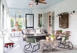 Beadboard Porch Ceiling by Lloyd Flanders In Porch Farmhouse With Wall Baskets Next To