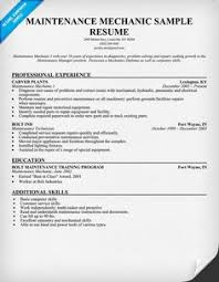 Mechanic Sample Resume by Redoubtable Building Maintenance Resume 11 Building Maintenance