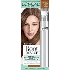 Light Brown Color Amazon Com L U0027oréal Paris Root Rescue Hair Color 6 Light Brown