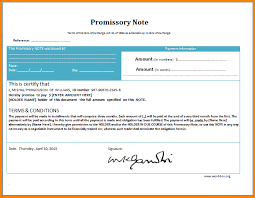 promissory note template microsoft word 28 images free