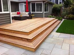 backyard wood deck breathtaking best 25 small decks ideas on