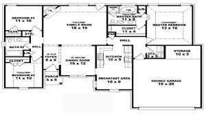 Double Master Bedroom Floor Plans by House Plans 4 Bedrooms One Floor Webshoz Com
