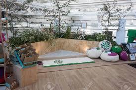 milan italy october 11 feng shui corner at yoga festival