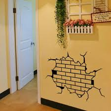 online shop 2015 new caved broken wall pattern wall stickers wall
