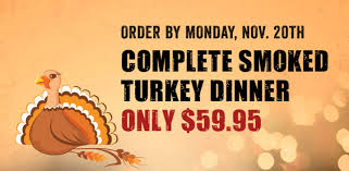 order turkey dinners to go tj ribs bbq