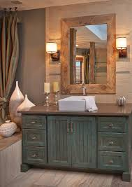 painted bathroom vanity ideas rustic paint ideas bathroom rustic with wood framed mirror