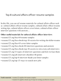 Student Affairs Resume Samples by Top 8 Cultural Affairs Officer Resume Samples 1 638 Jpg Cb U003d1434442134