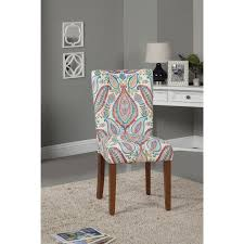 homepop parson dining chair set of 2 soft blue medalion pattern