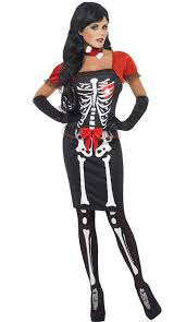 Ladies Skeleton Halloween Costume by Women U0027s International Costumes International Themed Fancy Dress