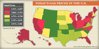 map us gas prices aaa monthly gas price report february 2013 trends and march