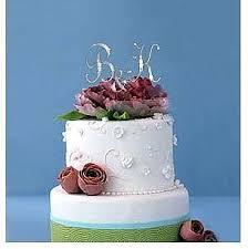 rhinestone monogram cake topper monogram silver gold rhinestone inital cake toppers with