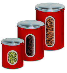 Large Kitchen Canisters Amazon Com Honey Can Do Kch 03011 3 Piece Metal Nested Canister