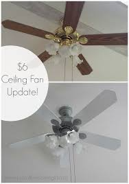 grey ceiling fan with light 6 dollar ceiling fan update ceiling fan spray painting and ceilings